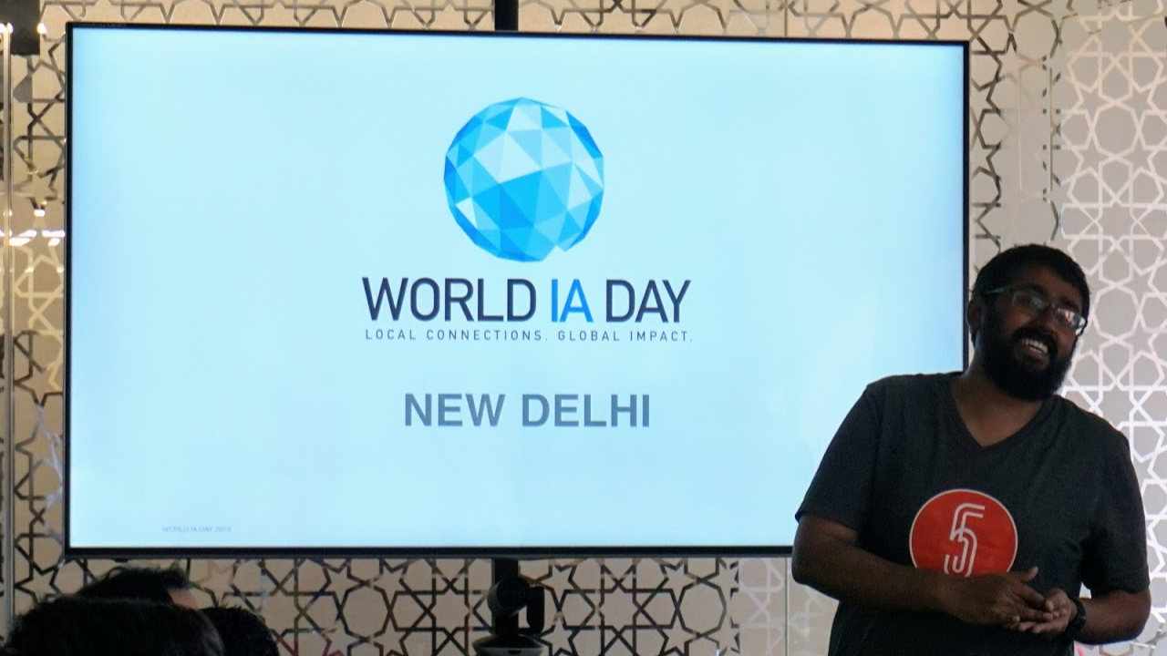 Souvik introducing World IA Day